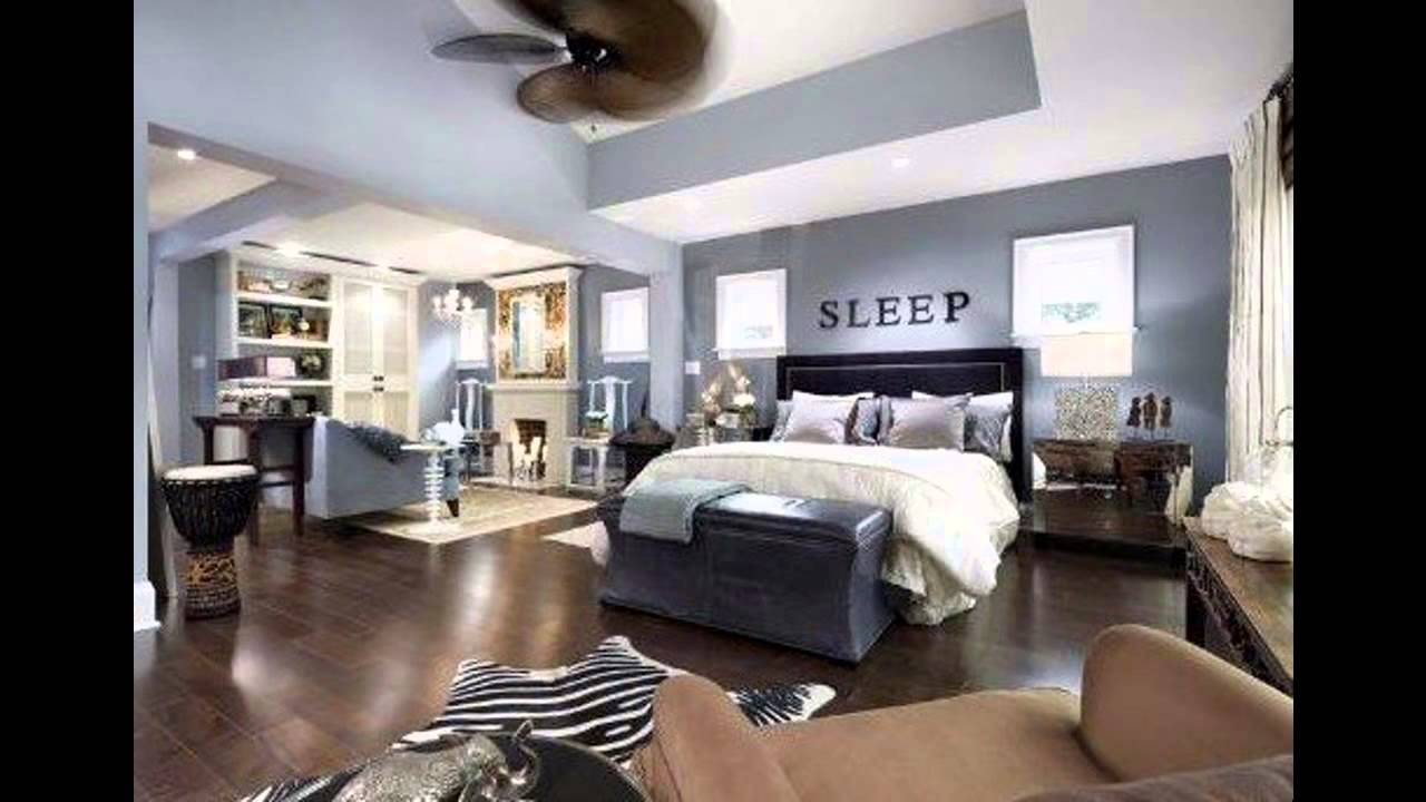 popular grey master bedroom decorating ideas - youtube