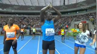 Usain Bolt Breaks 100m Indoor WORLD RECORD August 24,2014 HD