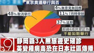 靜岡縣3人無旅遊史確診 英變種病毒恐在日本社區傳播@9點換日線