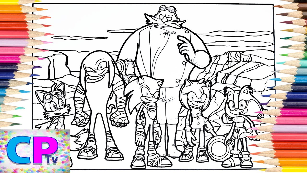 Sonic Boom Coloring Pages/Amy Rose/Tails/Knuckles/Sticks/Doctor Eggman/NCS  & Elektronomia Music