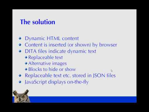 Dynamic HTML content through DITA 1 of 6