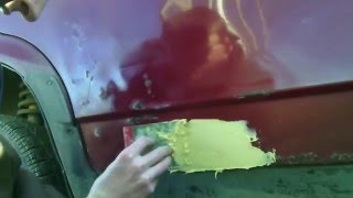 Как зашпаклевать авто, самый дешёвый ремонт гнилых дверей авто : часть 2(В этом видео я покажу вам как я шпаклюю двери автомобиля., 2016-04-01T12:10:24.000Z)