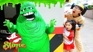 Boram and Konan Haunted House Halloween Slimer Ghost Busters