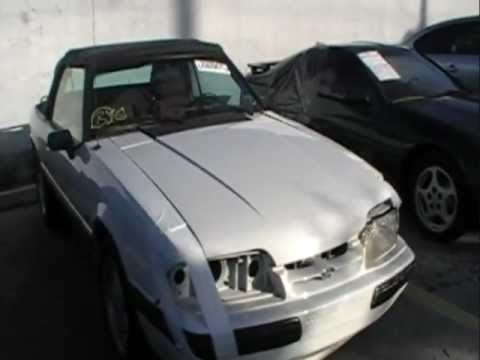 Lightly Damaged Fox Body: '91 Mustang LX 5.0 Convertible Parts For Sale