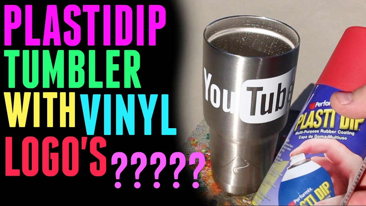 USING VINYL DECAL PLASTIDIP YETI REC PRO OZARK TRAIL YouTube - How to make vinyl decals for cups