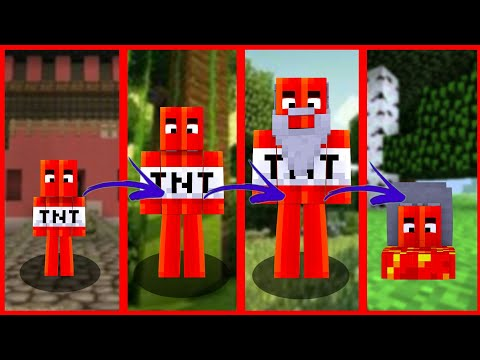 Minecraft - THE LIFE CYCLE OF TNT - FROM BIRTH TO BOOM