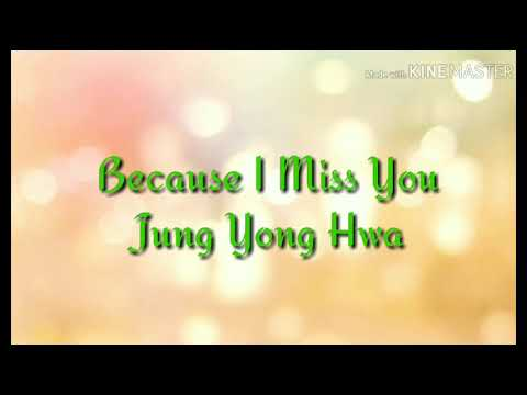(Sub Indo) Jung Yong Hwa _ Because I Miss You