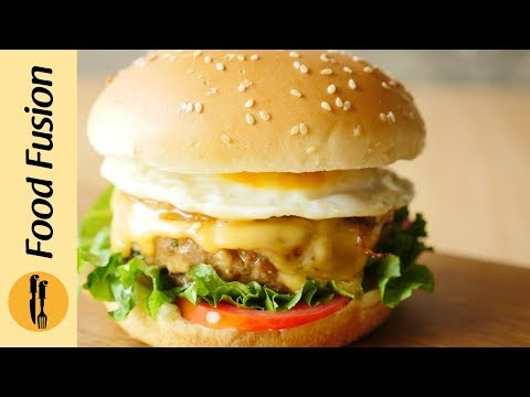 Breakfast Burger recipe by Food Fusion