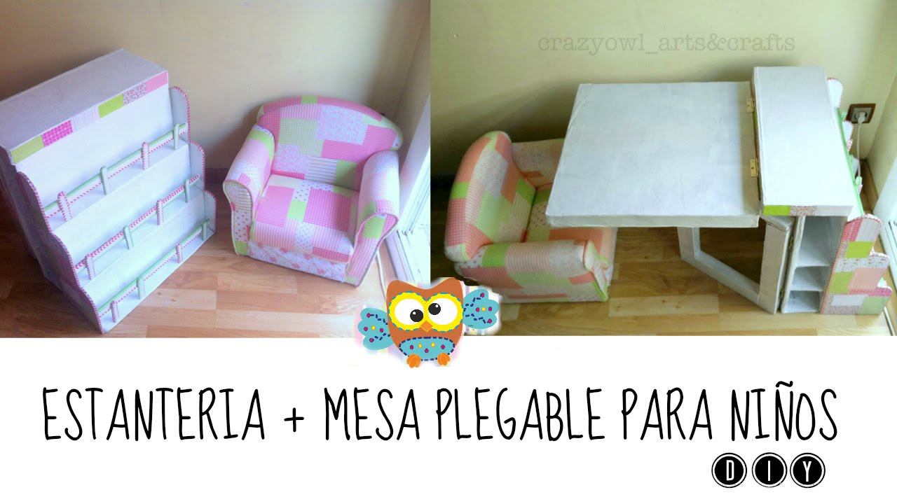 Diy reciclar manualidades en cart n estanteria y mesa plegable youtube - Mesas de carton ...