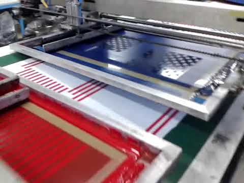 Automatic multicolor screen printing machine for textile fabrics for sale!