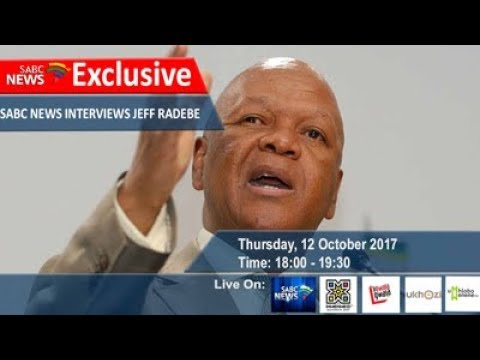 ANC presidential candidate Jeff Radebe on Ukhozi FM, 12 October 2017