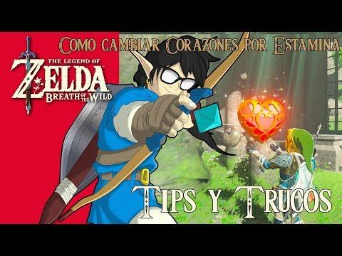 The Legend of Zelda: Breath of the Wild | Tips y Trucos | Como cambiar Corazones por Estamina