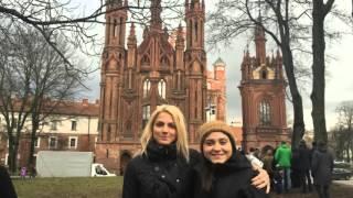 Girls in Vilnius, Lithuania vlog  in winter. Meet Obama!