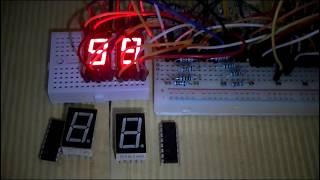 Сдвиговый регистр 74HC595 и семисегментный индикатор