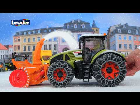Claas Axion 950 Mit Schneeketten Und Schneefräse 03017 Bruder Spielwaren
