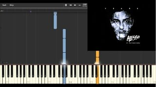 Alesso - Years ft. Matthew Koma (Short) (Piano Tutorial Synthesia)