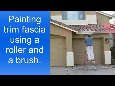 How to paint exterior house trim fascia. - YouTube