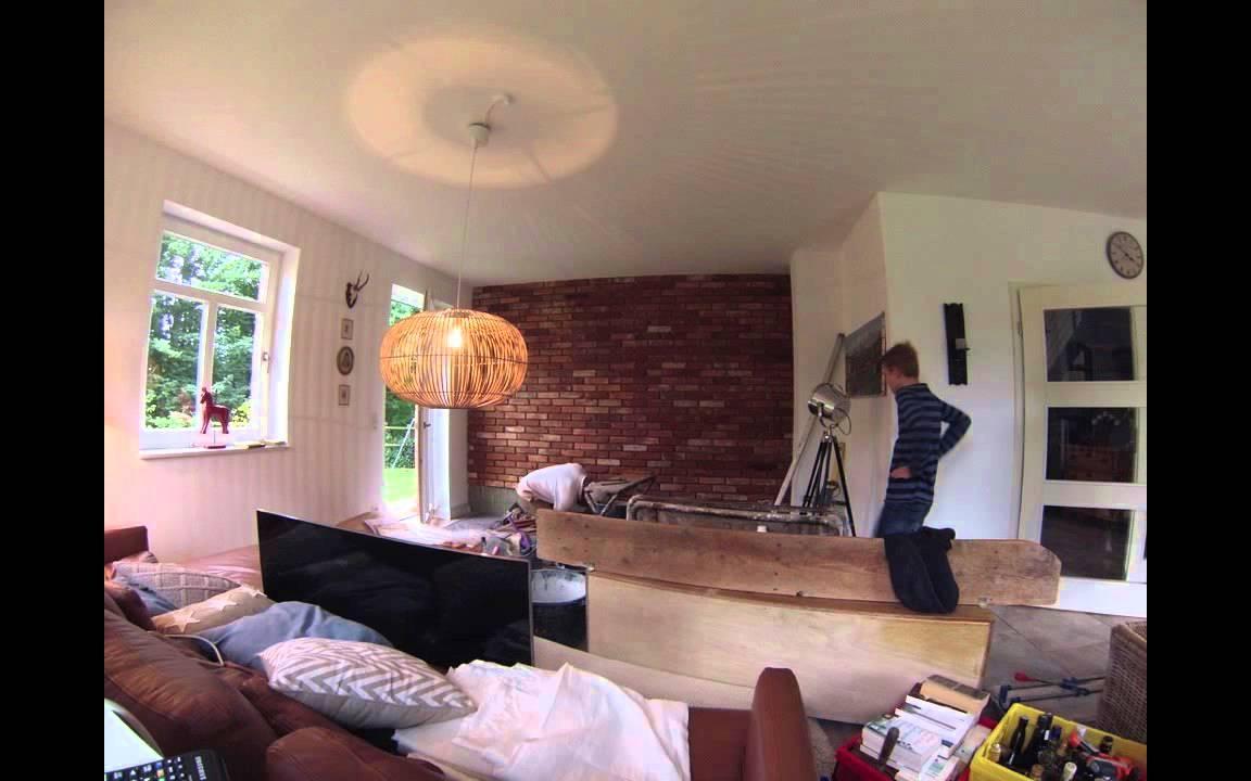 Projekt steinwand im wohnzimmer youtube for Steinwand fa r wohnzimmer