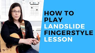 How To Play Landslide On Guitar by Fleetwood Mac Acoustic FINGERSTYLE Lesson