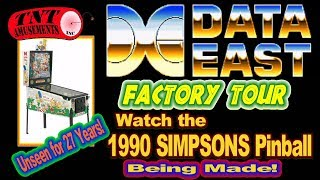 #1353 Tour of DATA EAST PINBALL MANUFACTURING PLANT in 1990! TNT Amusements
