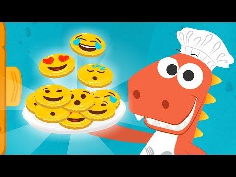 Aprende a cocinar galletas de Emoji con Eddie 😍🤣 Recetas fáciles para niños