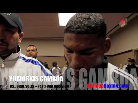 Yuriorkis GAMBOA vs Jorge SOLIS - Post Fight Interview