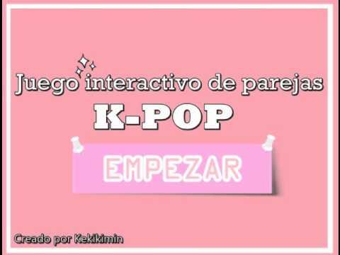 K Pop Juego Interactivo De Parejas Youtube