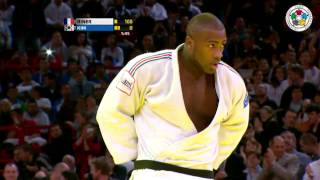 Judo Grand Slam Paris 2013: Final +100kg   RINER, Teddy (FRA) -  KIM, Sung-Min (KOR)