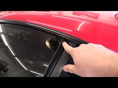 How to adjust the window alignment on a Ferrari F430