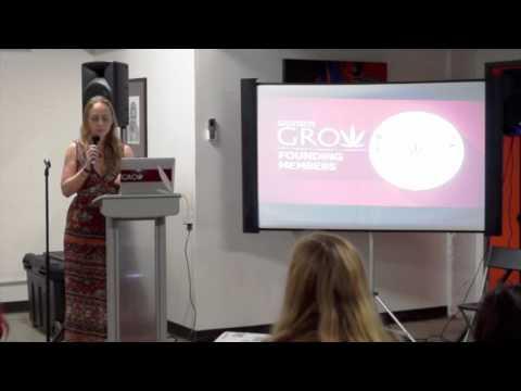 Jazmin Hupp, CEO of Women Grow at WVC Women and Cannabis Salon