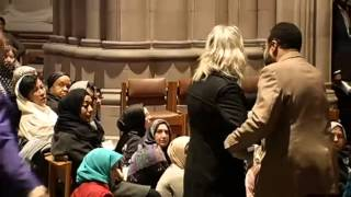 WOMAN PROTESTER INTERRUPTS FIRST MUSLIM PRAYERS AT CHRISTIAN NATIONAL CATHEDRAL (ORIGINAL RAW VIDEO)