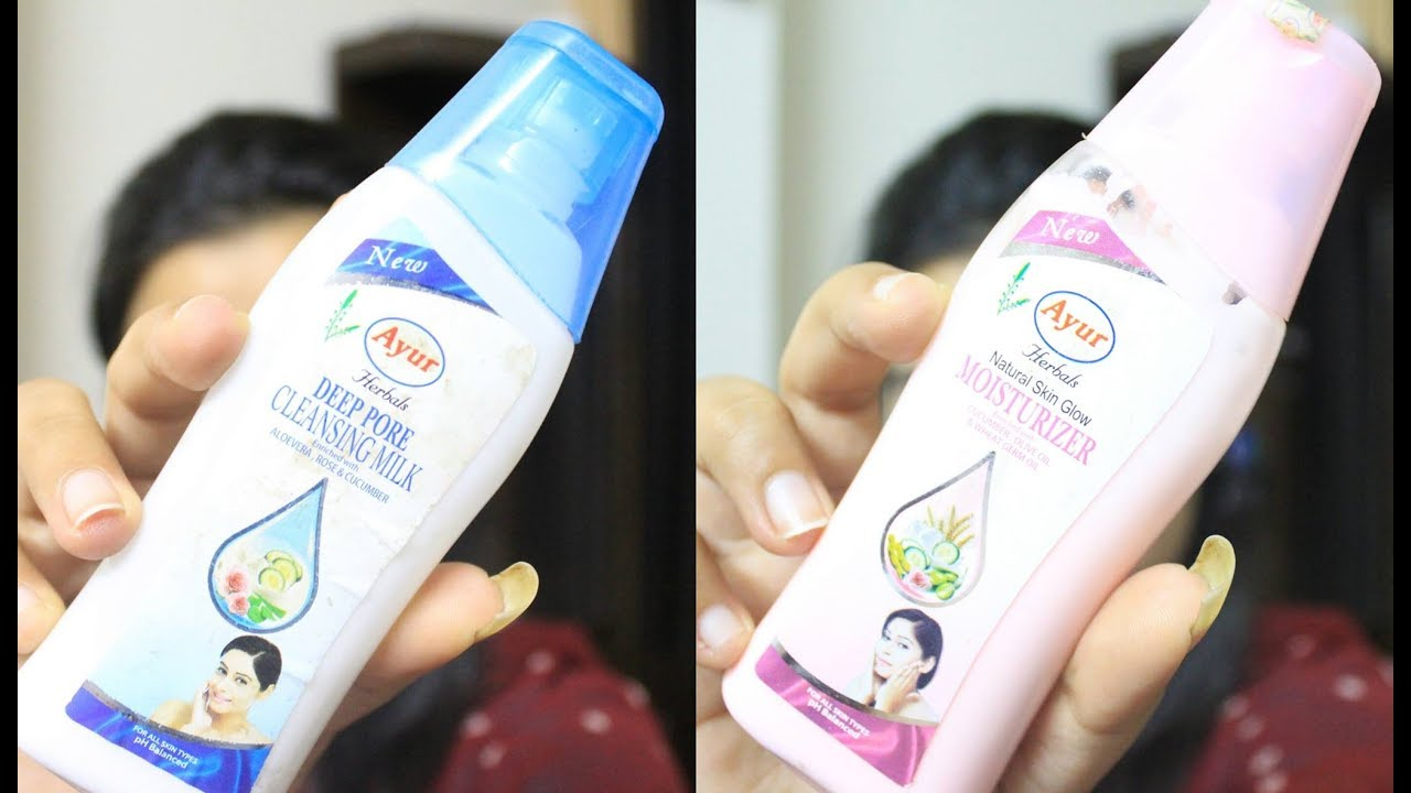 Download सबसे सस्ता   Cheapest Skin Care products  Review : Ayur deep pore cleansing milk &  Moisturizer 