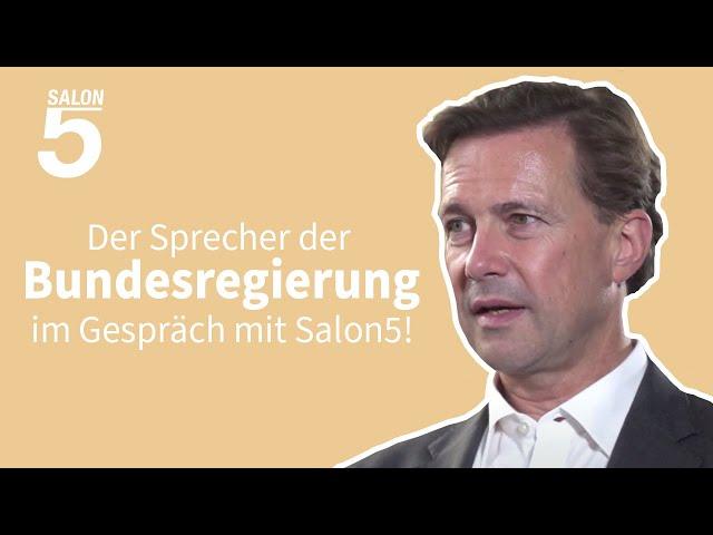 Salon5 Interview: Steffen Seibert über die Corona-Krise und über Falschmeldungen
