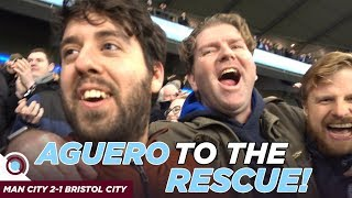 SERGIO AGUERO TO THE RESCUE! | VLOG Man City 2-1 Bristol City
