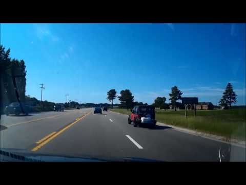 Lansdale, PA to Hatteras, Outer Banks, NC -- Dash Cam Roadtrip
