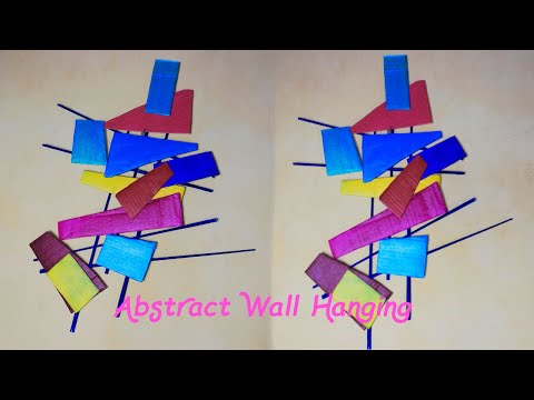 Handicraft wall hanging craft idea Unique wall decoration Home Decor