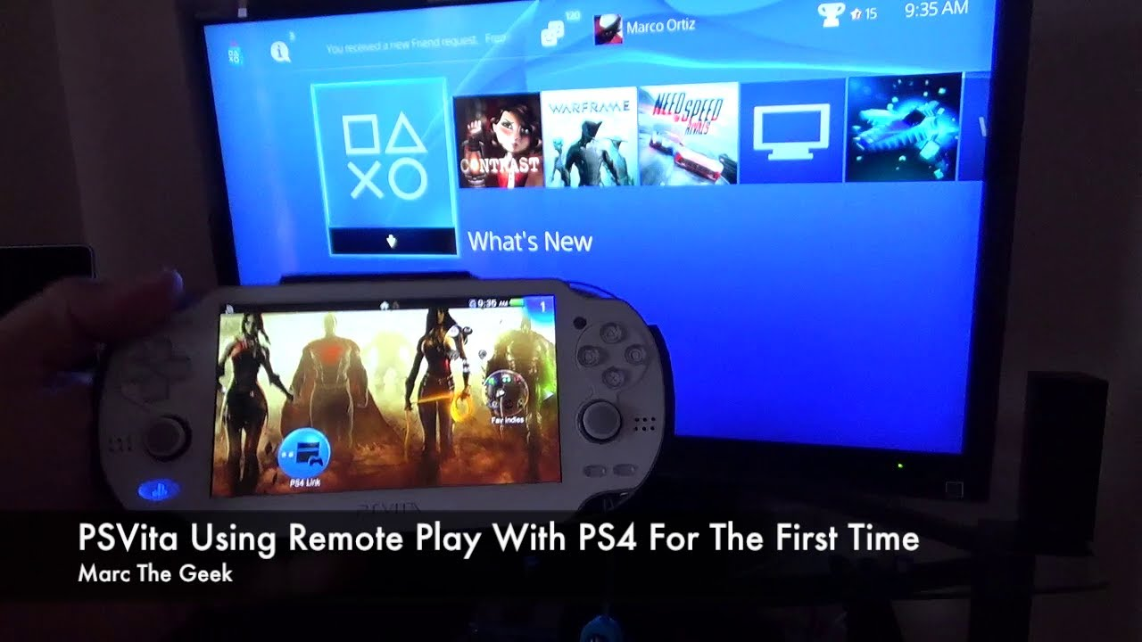 PSVita Using Remote Play With PS4 For The First Time - YouTube