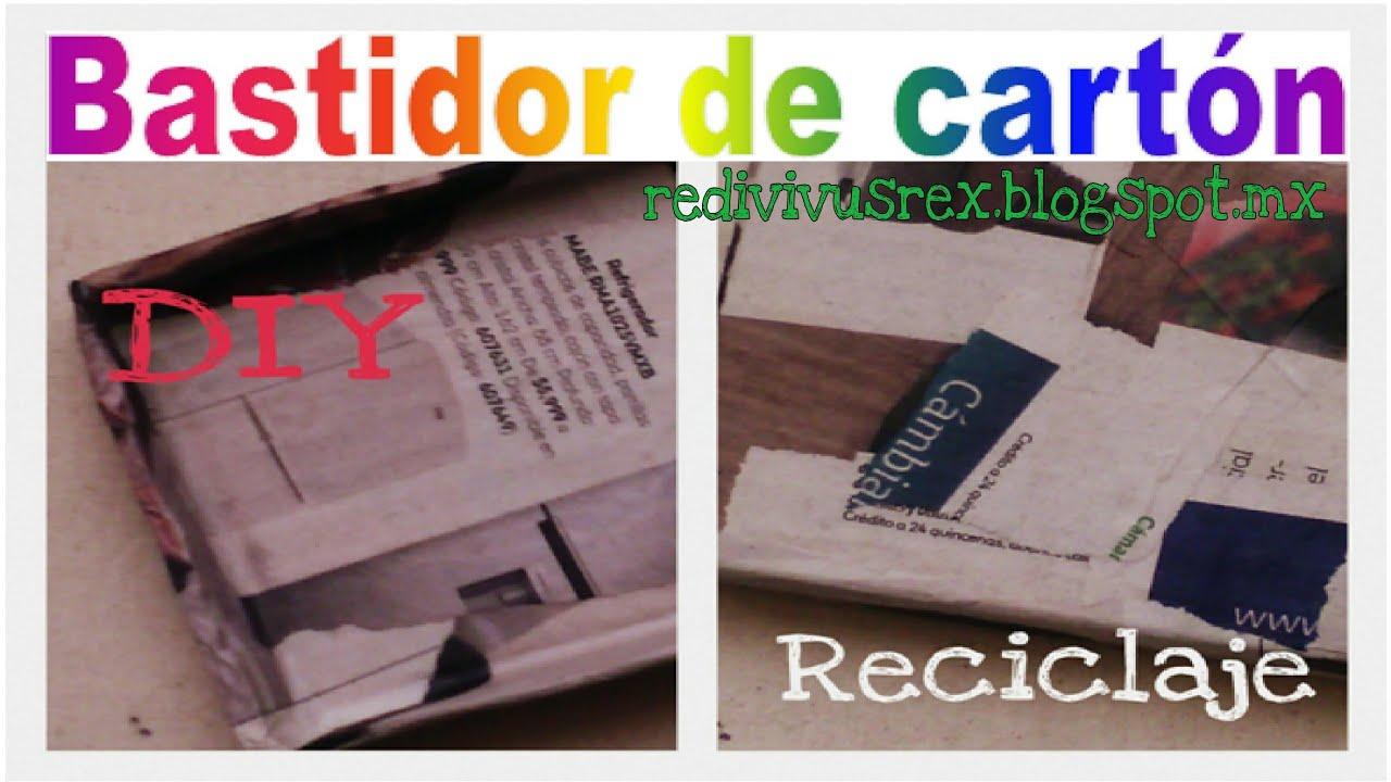 ♻ Bastidor-lienzo reutilizando cartón|Reciclaje/DIY - YouTube