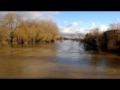 Floods at Sonning on the Thames