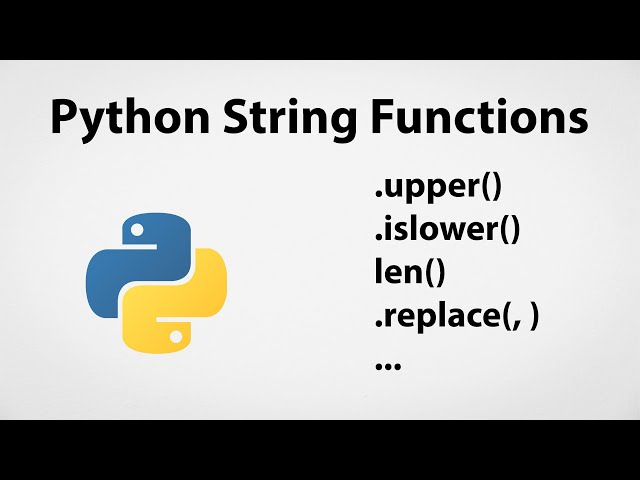 Python String Functions | Python for Beginners