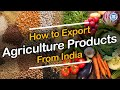 How to Export Agriculture Product From India || Export Import Business in India