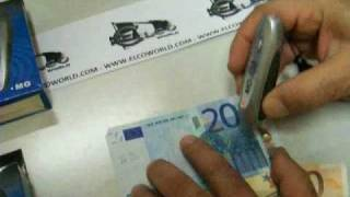Mini Money 2 in 1 Elcoworld verifica banconote false euro falsi denaro falso controlla rivela rileva