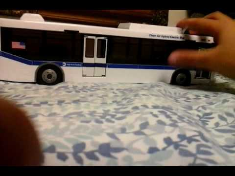 Wooden bus toy