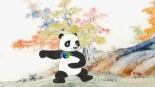 zen bear animation tai chi for health logo
