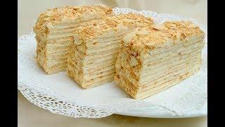 """Торт """"Наполеон""""за 5 минут из готового слоёного теста\cake """"Napoleon"""" for five minutes"""