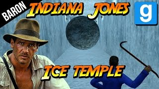 Garry's Mod Deathrun - Indiana Jones and the Ice Temple!  Just Spring, Jump, Crouch!