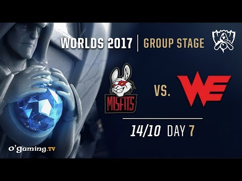 Misfits vs Team WE - World Championship 2017 - Group Stage - Day 7 - League of Legends
