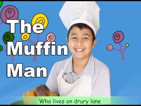 Nursery Rhymes The Muffin Man for Children | Kids video, music with lyrics | Patty Shukla