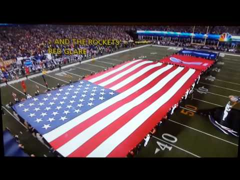 Nfl opening game national anthem 2015, steelrs vs