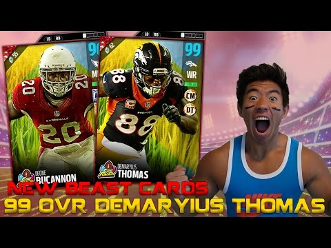 WE GET 99 OVR DEMARYIUS THOMAS & DEONE BUCANNON! MADDEN 17 ULTIMATE TEAM